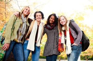 group-of-college-girls-on-campus